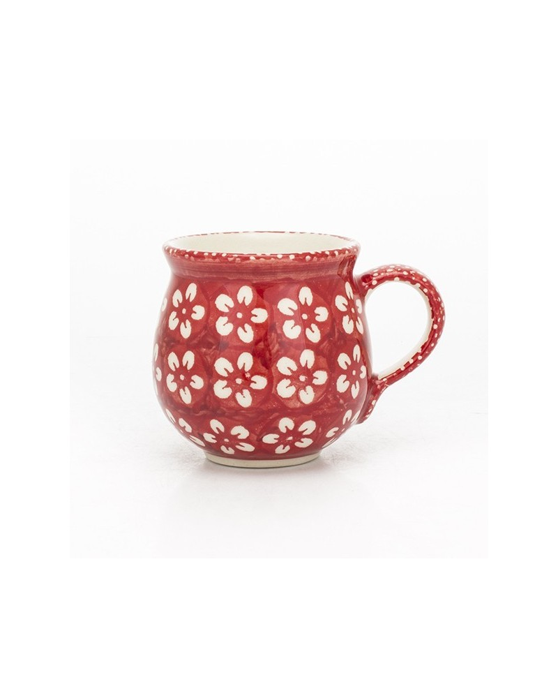 Dekor 42 Bunzlauer Keramik Kugelbecher 0,42L mit seperater Saftpresse